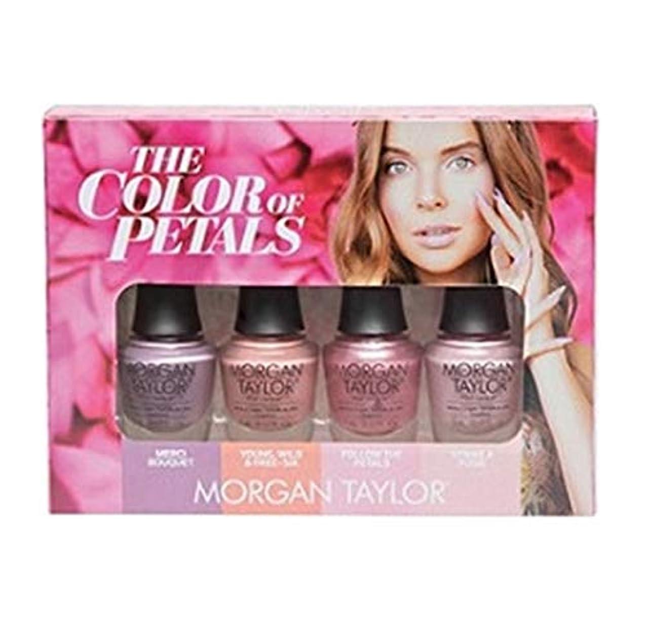 誇張発疹恐れMorgan Taylor - The Color Of Petals Collection - Mini 4 pk - 5 mL / 0.17 oz Each