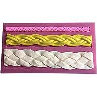ロープ3種類形状3dシリコンモールドチョコレートフォンダンケーキデコレーションツール-- c473