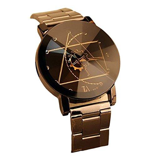 2色 ステンレス製 腕時計 メンズ 羅針盤の指針 おしゃれ 男の子 ウォッチ 時計 日常生活防水 ビ...