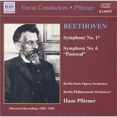 プフィッツナー指揮 べートーヴェン交響曲第1番&第6番の商品写真