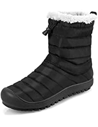 FireyStore スノーシューズ ブーツ 防寒靴 レディース メンズ 防寒 防滑のスノーブーツ 長靴 短靴 リムーバブル