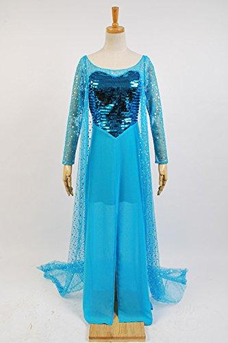 【cosplaysky】アナと雪の女王 Frozen エルサ Elsa 女王 風 ドレス ワンピース コスプレ衣装 男性XL