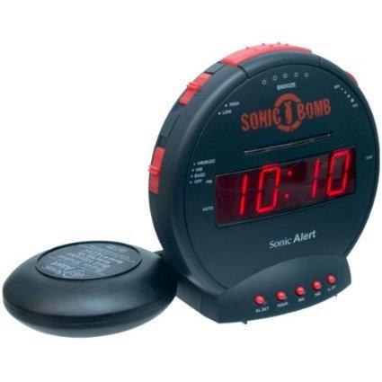 大音量 & 爆裂振動式目覚し時計(最大59分間鳴りっぱなし!2時刻アラーム,音量&スヌーズ間隔も調整可能、LED表示の明るさも5段階調節。スーパーボム! スヌーズボタンが使いやすい超強力な目覚まし時計! [CIMATECH]
