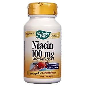 海外直送品 Nature's Way Niacin, 100 Caps 100 mg