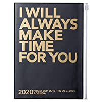 MARK'S 2020 Taschenkalender A5 vertikal, MAKE TIME Black
