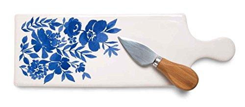 """パビリオンギフト会社竹ナイフ、4 """"で12、色とりどりで86136セラミックチーズボード"""