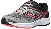 [Saucony] Women's Grid Cohesion 10 Grey/Coral Ankle-High Running Shoe - 10M