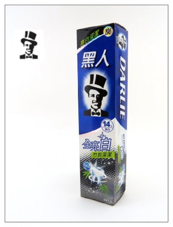 通路楕円形文化黒人 歯磨き 全亮白竹炭深潔 140g 台湾製