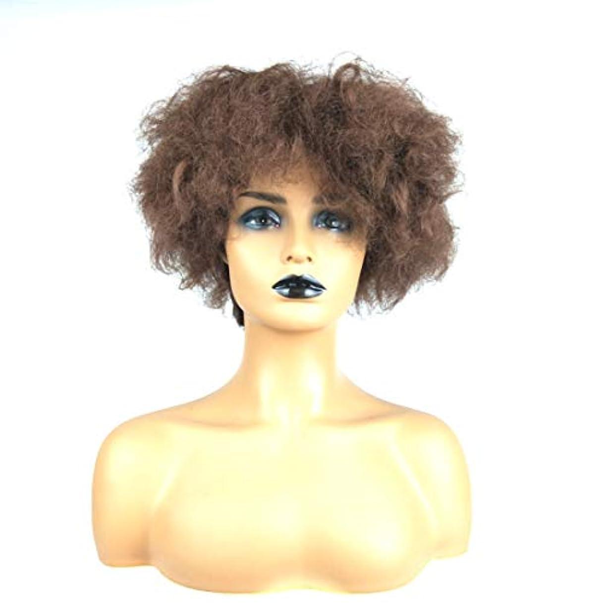 寄稿者カップ公使館Summerys 女性のための短い巻き毛のかつらブロンドのボブの髪かつら自然に見える耐熱合成ファッションかつら
