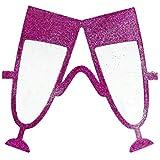 SODIAL ハワイアン?ビーチ?パーティーとファンシードレスのためのシャンパンと赤いメガネ ガラス ローゼ