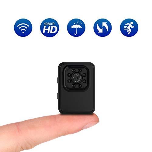 スポーツ防水カメラ 超小型カメラ 無線WiFi監視カメラ 1080P HD 監視カメラ 動体撮影 長時間使用 暗視機能 110°広角撮影 車載貯蔵、潜水する、野外撮影 室内防犯監視