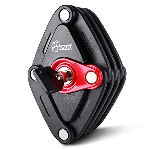 PAW ブレードロック 自転車 頑丈 コンパクト 鍵 ロック 折りたたみ式 カギ式 取付ブラケット付 取扱説明書付 ブラック PW0902