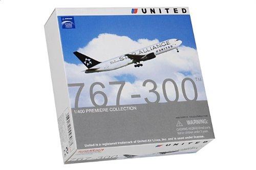 """1:400 ドラゴンモデルズ 55696 ボーイング 767 ダイキャスト モデル ユナイテッド 航空 N653UA """"スター Alliance""""【並行輸入品】"""