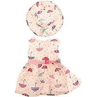 SONONIA かわいい ノースリーブ ドレス  ウエストベルト&ハット付き 18インチ アメリカンガールドール用