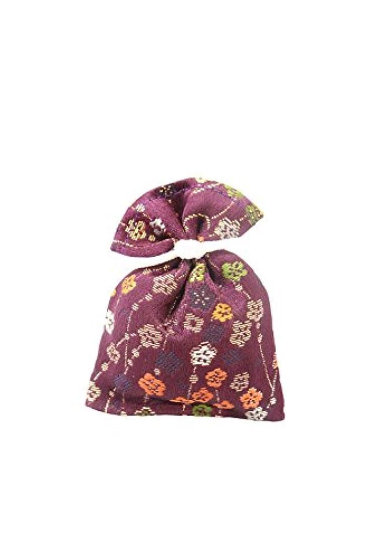 オーバーヘッドテンポすなわち香袋 金襴 紫紺色