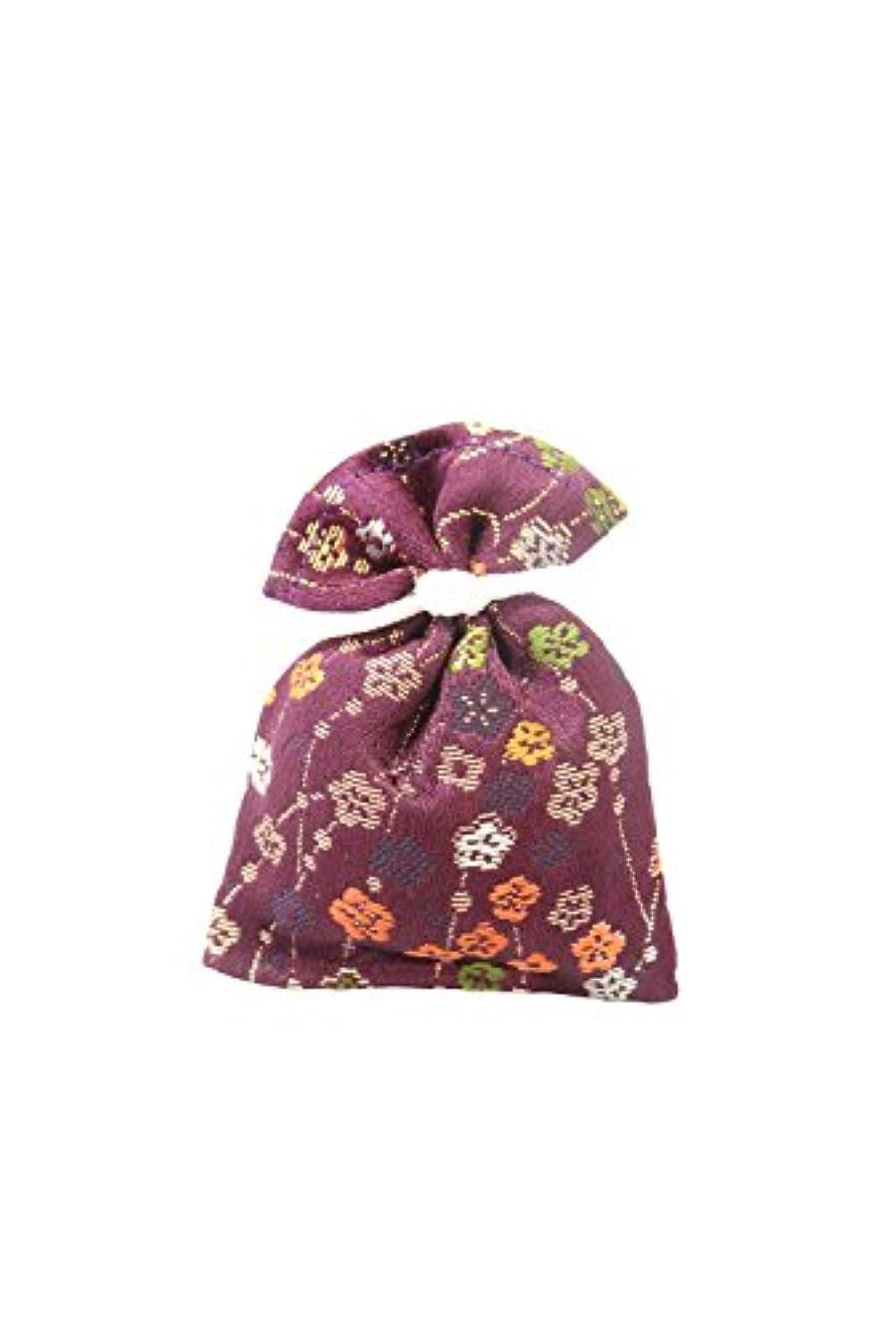書士不公平タイル香袋 金襴 紫紺色