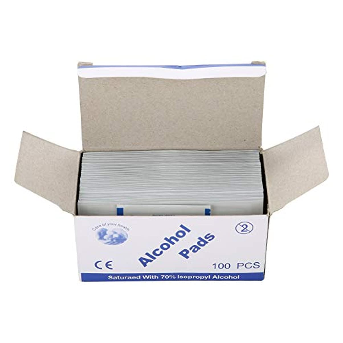 やさしくリラックスしたラリーベルモント100個/箱使い捨てアルコール綿パッド (UnitCount : 2 box)