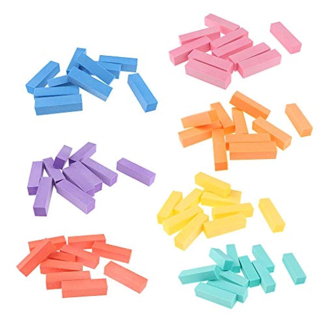 スクレーパーつぼみ民間人Toygogo 70xネイルバッファーブロック、4ウェイバフ研磨ファイルスムーズ–ミニナチュラルネイルポリッシャー4ウェイ–プロネイルケアサンディングブロック、完璧なミニマニキュアセット
