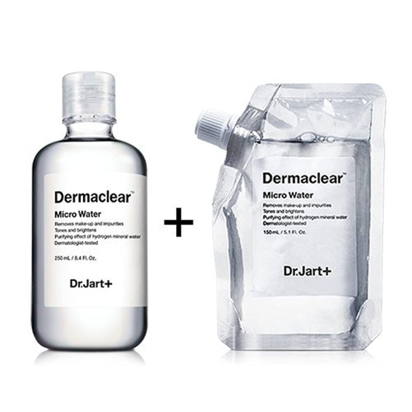 今日鉛農村ドクタージャルト[韓国コスメ Dr.Jart+]ダーマクリア マイクロ ウォーター250ml+150ml(リフィル) [Dr.Jart+]Dermaclear Micro Water (250ml+150ml)