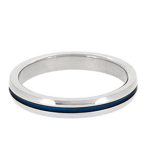 [フェフェ]fe-fe phiten ファイテン 細身 ブルーライン チタン リング 14~20号 (20号) 人気 メンズ 指輪 シンプル スポーツジュエリー