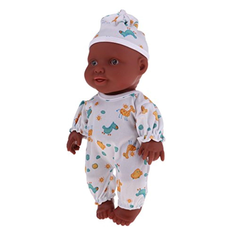 Baoblaze 26cmのリアル赤ちゃん人形 ドール アフリカ系人形ドール 抱き人形 全2色 - #1