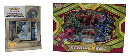 Pokemon Bundle of 1 Pokemon TCG Scizor EX Box & 1 Pokemon TCG Mythical Meloetta