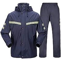 BYWSD Raincoat Rain Pants Breathable Mesh Thick Double Layer Split Adult Raincoat Set (Size : XXL)