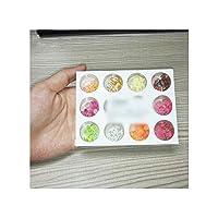 12タイプ/セットフルーツスライスフィラーネイルアート3Dフルーツの花タイニーFIMOスライスポリマークレイDIYのアップ美容ネイルステッカー、白を作るために