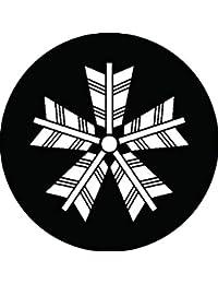 家紋シール 五本矢車紋 布タイプ 直径40mm 6枚セット NS4-1167
