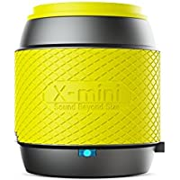 【国内正規品】 Xmi エックスミニ X-mini ME サムサイズ ポータブル 超小型 スピーカー ガンメタルイエロー (XAM16-GMY) iPhone / iPad / iPod / MP3 / スマートフォン / ラップトップ