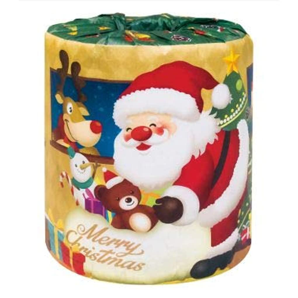 知的ジェム比類なき【サンタロール1Rトイレットペーパー 1ケース100個入】Xmas クリスマス パーティー イベント用 催事 販促用 粗品 ディスプレイ 積み上げ