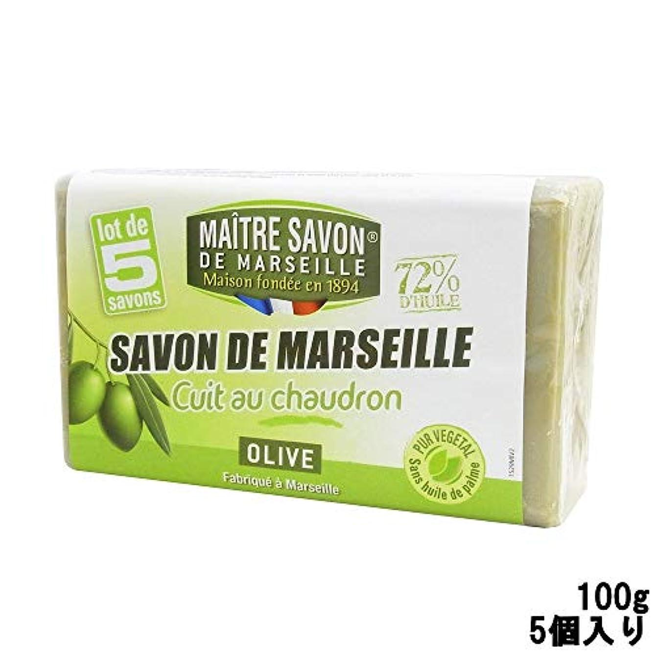 排泄する変更物理的なサボンドマルセイユ オリーブ 100g 5個入り [並行輸入品]