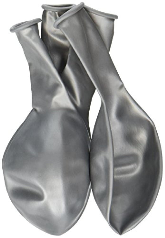 パーティーPerfect Plain Pearlizedバルーン装飾、シルバー、ラテックス、12