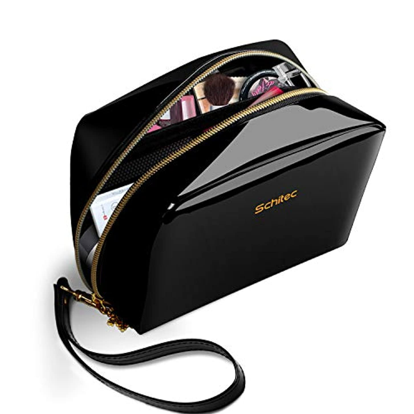 製品指定ボンド化粧ポーチ メイクポーチ ミニ 財布 機能的 大容量 化粧品収納 小物入れ 普段使い 出張 旅行 メイク ブラシ バッグ 化粧バッグ