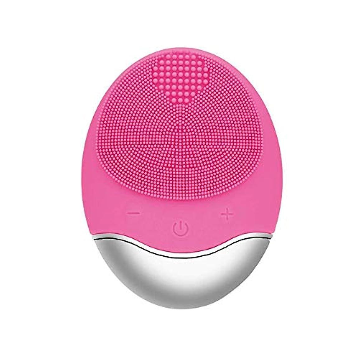 発見する人口何故なのZXF 新しい竹炭クレンジング楽器クレンジングポア充電式電気シリコーンにきびクレンジング楽器ピンク 滑らかである
