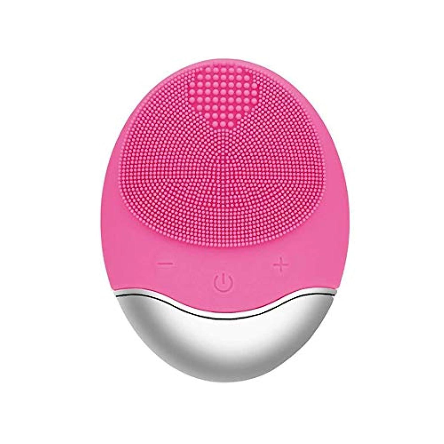 電化するエミュレートするバングZXF 新しい竹炭クレンジング楽器クレンジングポア充電式電気シリコーンにきびクレンジング楽器ピンク 滑らかである