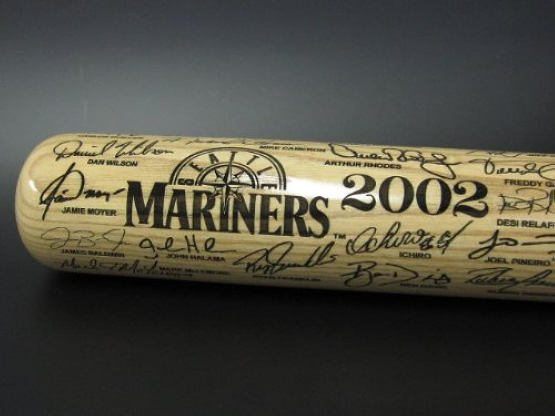 【イチローファン必見!】2002年マリナーズサイン入りバット