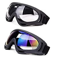 DODOING Ski Goggles, Snowboard Goggles with UV 400 Protection, Windproof, Dustproof, Anti-Glare Lenses Goggles for Motorcycle Cycling Outdoor Sports Eyewear for Kids, Boys & Girls, Youth, Men & Women