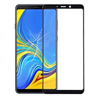 Front outer LCD Touch screen glass lens frame bez フロントスクリーンの外側ガラスレンズ用ギャラクシーA9(2018)/ A9s(ブラック)交換 FENGFENGWUJIN (Color : Black)