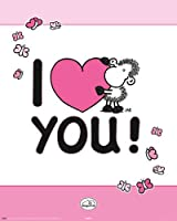 Sheepworld - I Love You Poster - 50x40cm