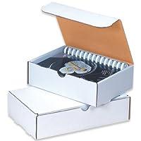 Aviditi ML973 Corrugated Literature Mailer 9 Length x 7-1/2 Width x 3 Height Oyster White (Bundle of 50) [並行輸入品]