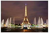 美しいパリのエッフェル塔 正方形写真スタジオ背景 5x7フィート パリの夜景小道具 壁写真背景 EY018