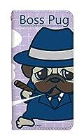 スマホケース 手帳型 [Google Pixel3] ケース 手帳 谷口亮 キャラクター ボスパグ かわいい 動物 アニマル 犬 イヌ いぬ デザイン 柄 おしゃれ 0242-E. BossPug01パープル Pixel 3 カバー グーグル ピクセル3 ケース 人気 ベルトなし スマホゴ