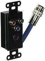 c2g / Cables to Go 42026RapidRunコンポーネントビデオ、SVideo壁プレート(ブラック)