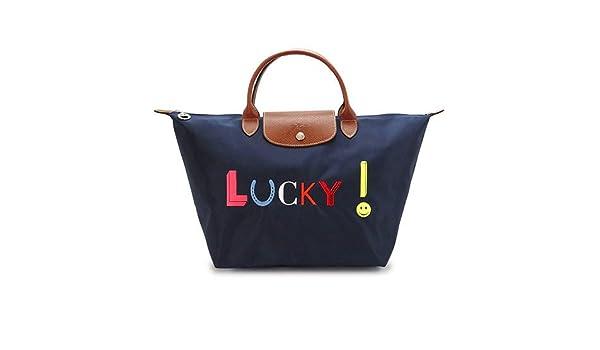 83e845b23f37 Amazon.co.jp: (ロンシャン)Longchamp トートバッグ 1623 618 556/NAVY ショルダーバッグ ル・プリアージュ  LUCKY/ラッキー ナイロン ネイビー [並行輸入品]: ...