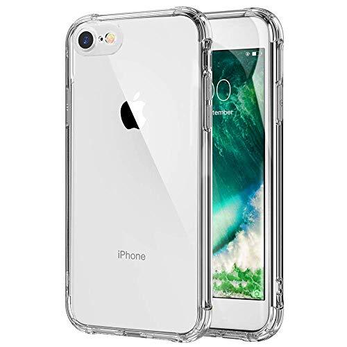 iPhone 7 iPhone8 ケース クリア 耐衝撃 透明 ソフト TPU 耐久 シリコン アイフォン8 ケース アイフォン7 ケース 超軽量 薄型 防塵 Qi充電対応 黄変防止 おしゃれ 指紋防止 一体型 人気 水洗(クリア)