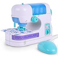 Liebeye 電気ミシン 子供のシミュレーションミニポータブル、おもちゃのようにプレイおもちゃをクリスマスプレゼント