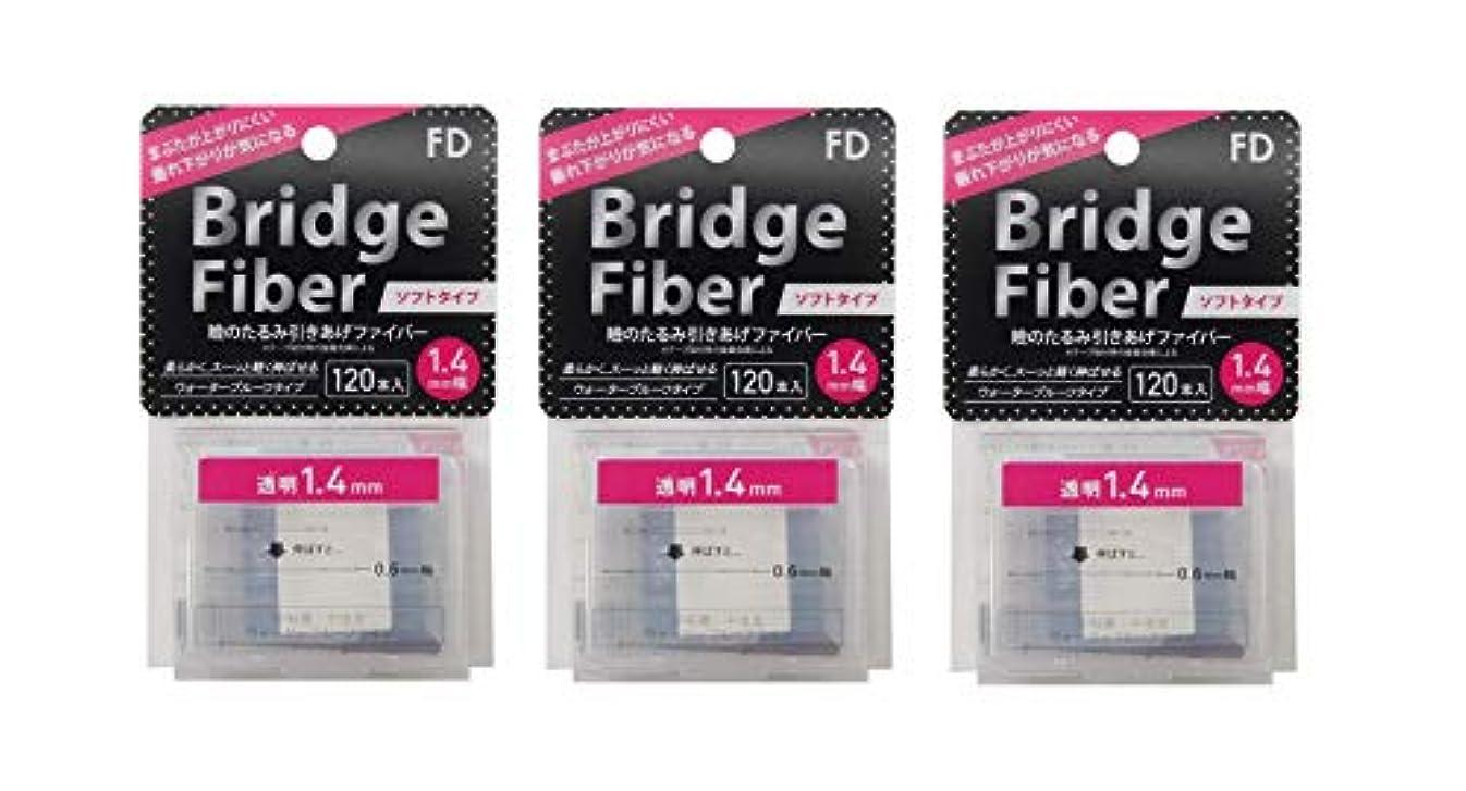 癌増幅器復活するFD ブリッジソフトファイバー 眼瞼下垂防止テープ ソフトタイプ 透明1.4mm幅 120本入り×3個セット