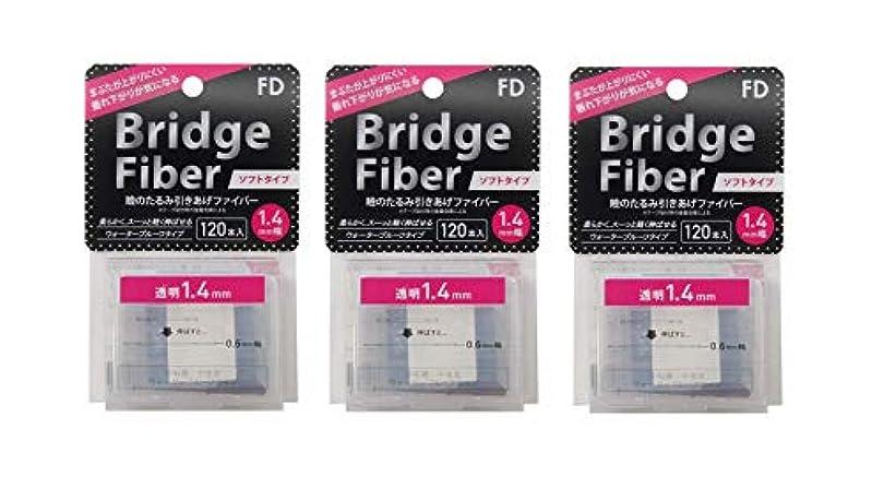 急性不安定受け皿FD ブリッジソフトファイバー 眼瞼下垂防止テープ ソフトタイプ 透明1.4mm幅 120本入り×3個セット
