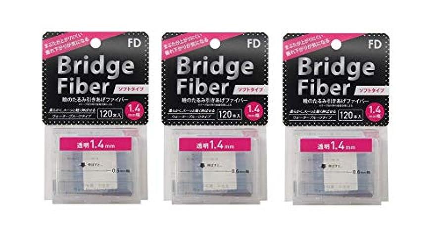 リハーサル期間ビジターFD ブリッジソフトファイバー 眼瞼下垂防止テープ ソフトタイプ 透明1.4mm幅 120本入り×3個セット